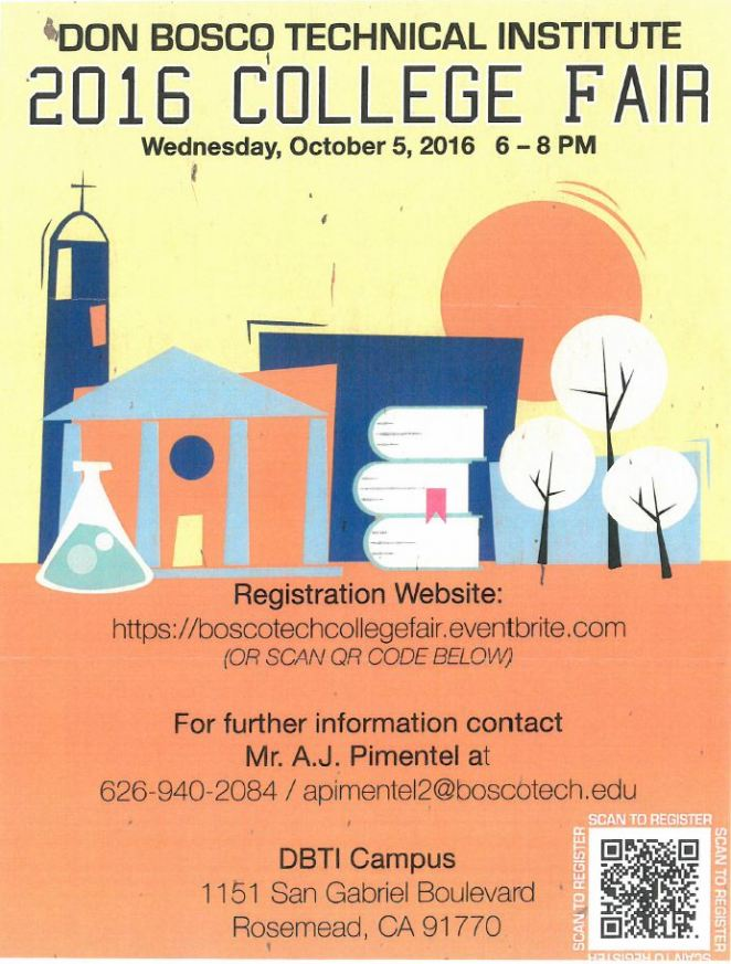 Free Bosco Tech College Fair is Oct. 5