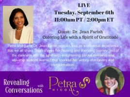 Jean Farish Guest on Revealing Conversations Radio with Petra Nicoll