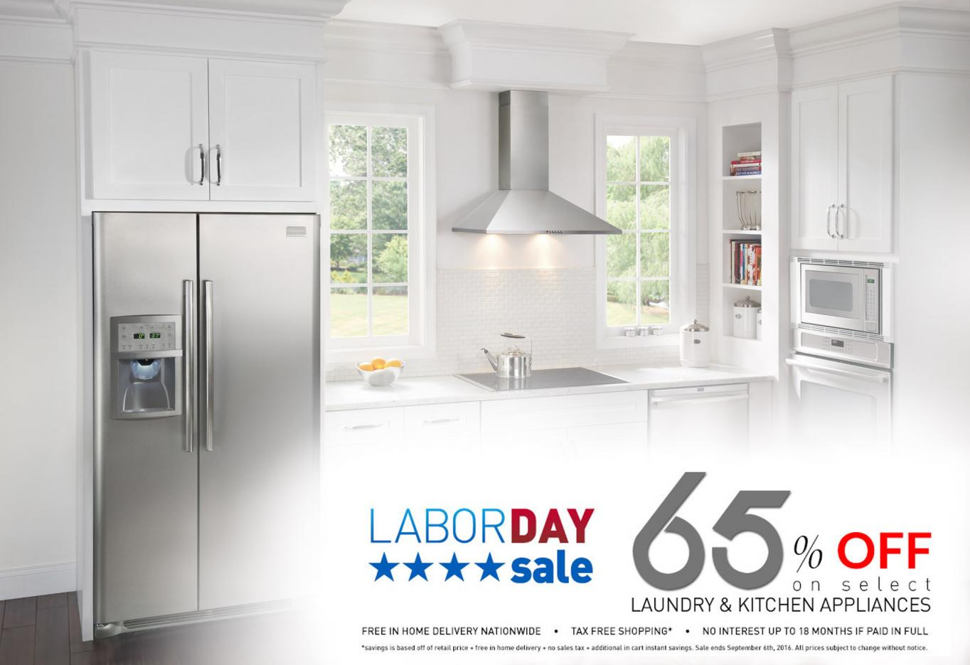 Labor Day Savings at Appliances Connection offer up to 65% off the retail price.
