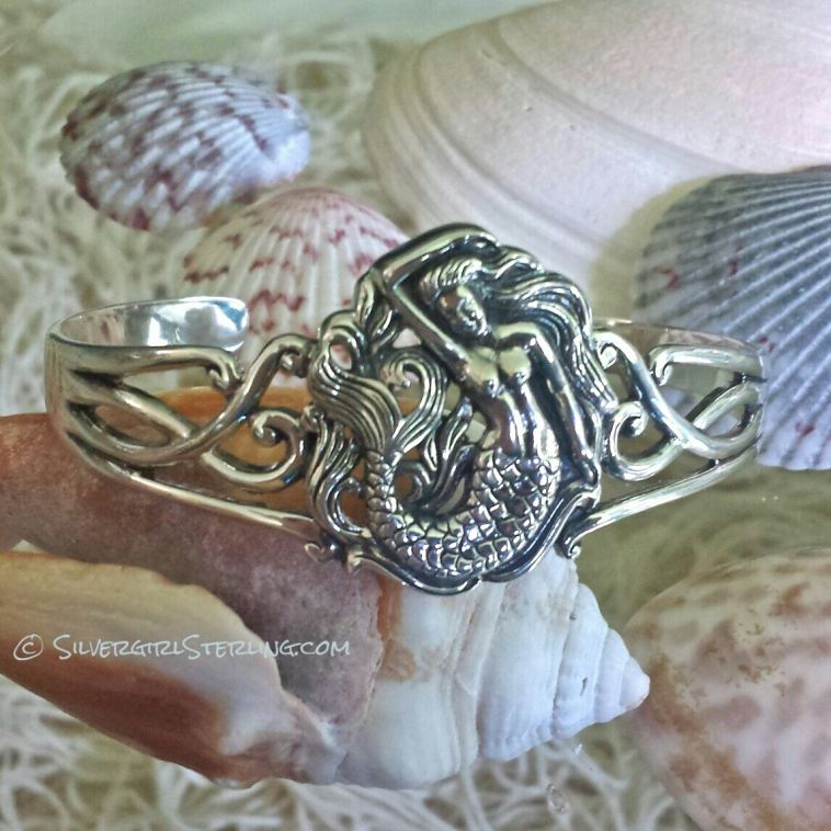 New Mermaid Cuff - Silvergirl Sterling EXCLUSIVE!