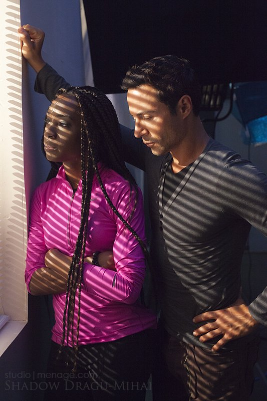 Angelica Ross and Justin Berti