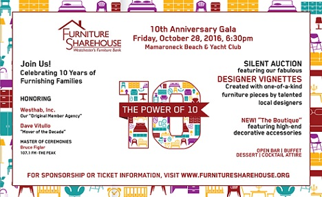 Furniture Sharehouse Celebrates Its 10th Anniversary With Power Of 10 Gala On October 28th