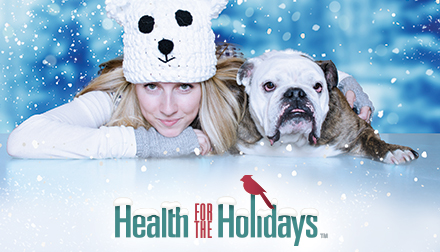 Daily snowfalls are part of the fun with Health for the Holidays.