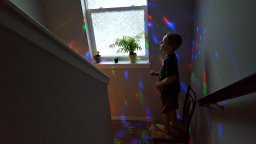 Mother Catches Kid Mesmerized by Delightime LED Disco Light