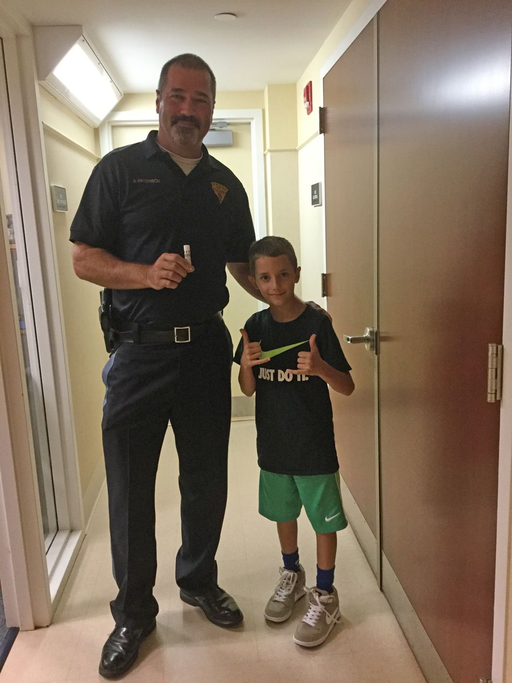 Maxwell Landfrank and Chief Paterson Rumson PD