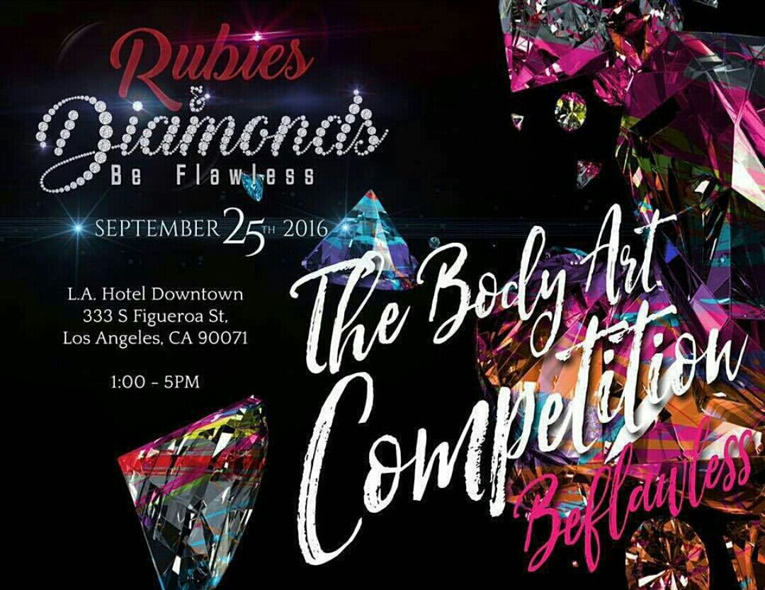 Rubies & Diamonds Be Flawless 2016 Body Art Competition