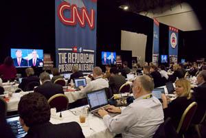 Reporters Room - Republican Debate, Las Vegas, NV
