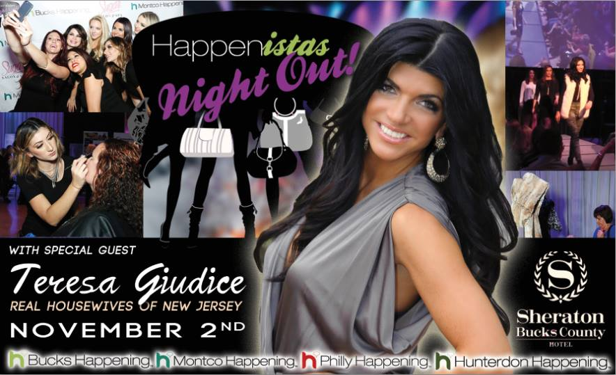 Meet RHONJ star Teresa Giudice at Happenistas Night Out on 11.2.16