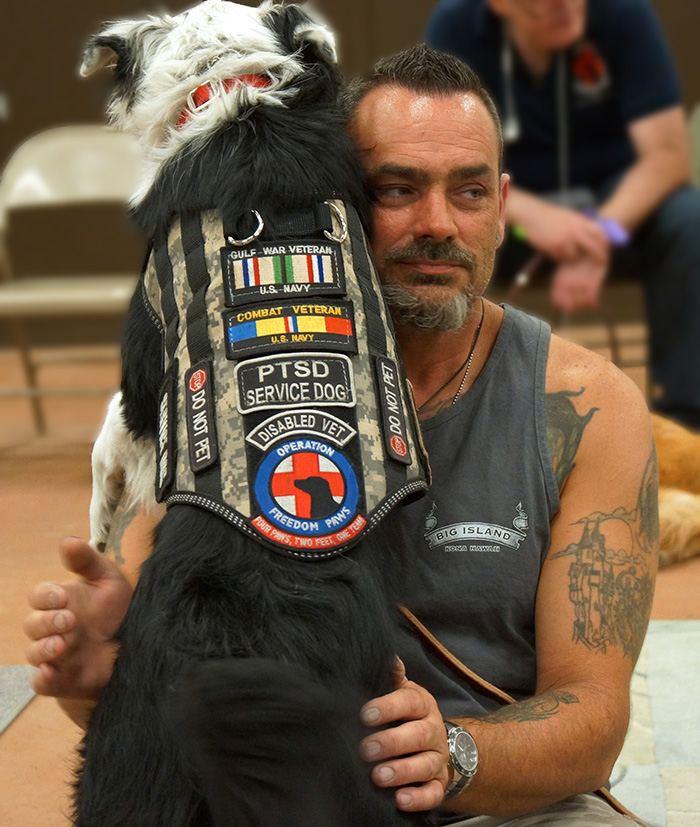 Veteran Client & Service Dog