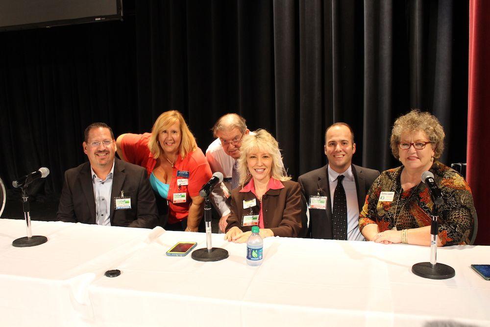 BizFest Social Media panel participants with event organizer John Anderson.
