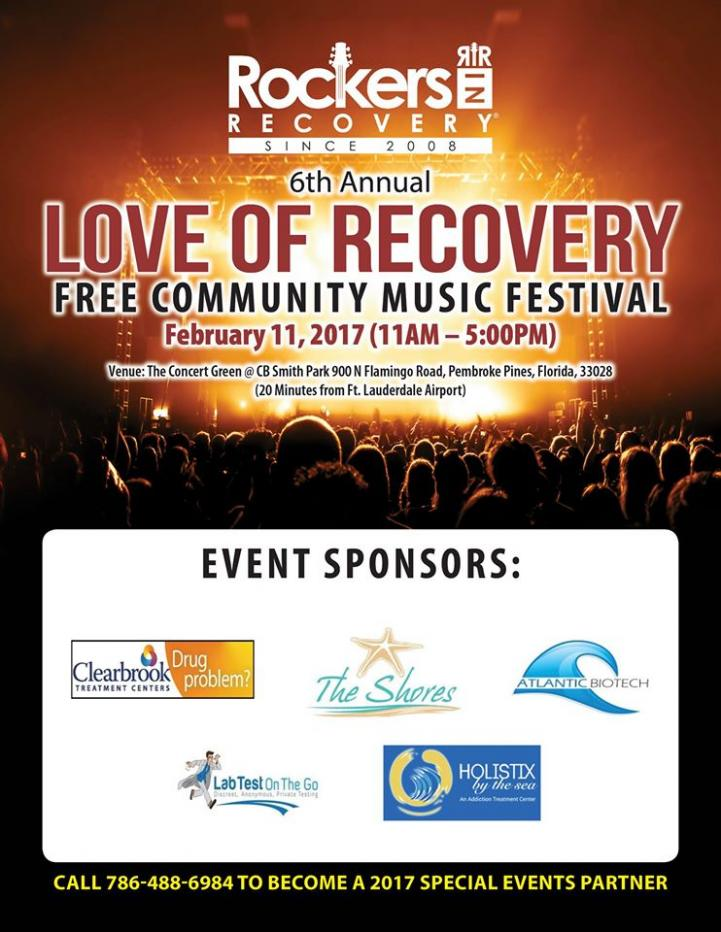 6th Annual Love of Recovery Free Music Festival 02/11/17 Pembroke Pines