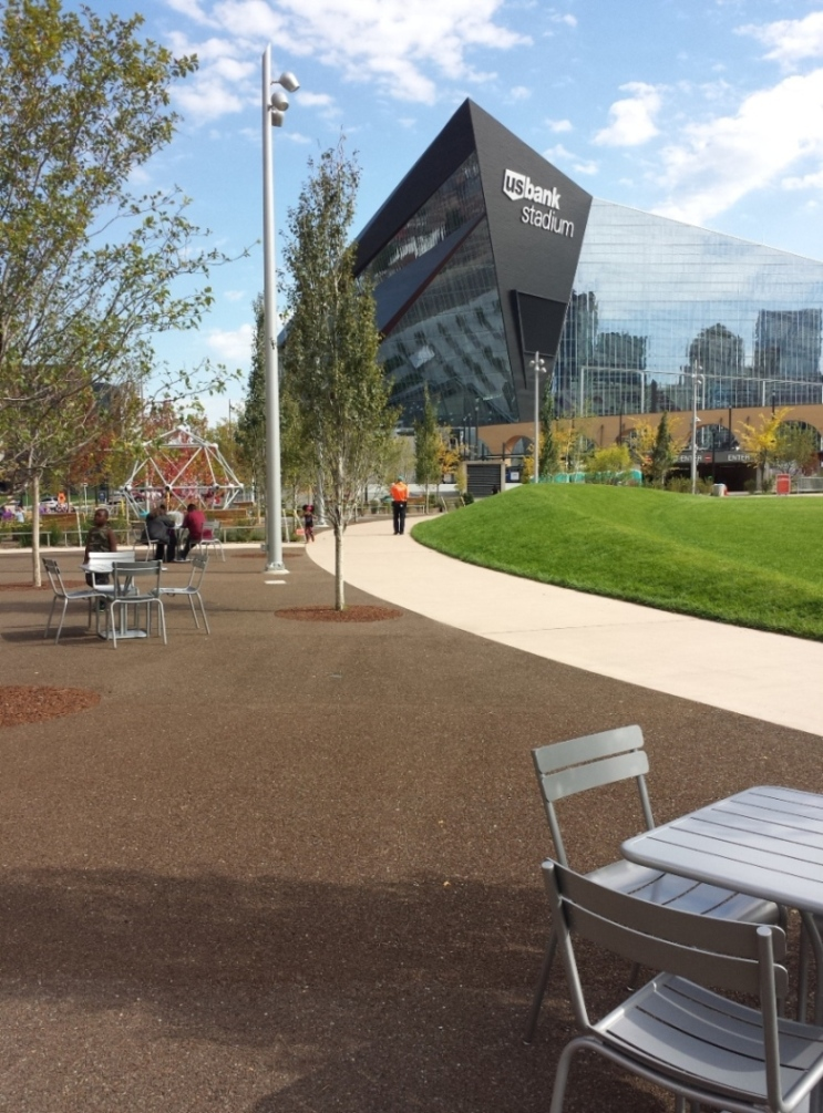 Porous Pave Permeable Paving at the Downtown Commons, U.S. Bank Stadium