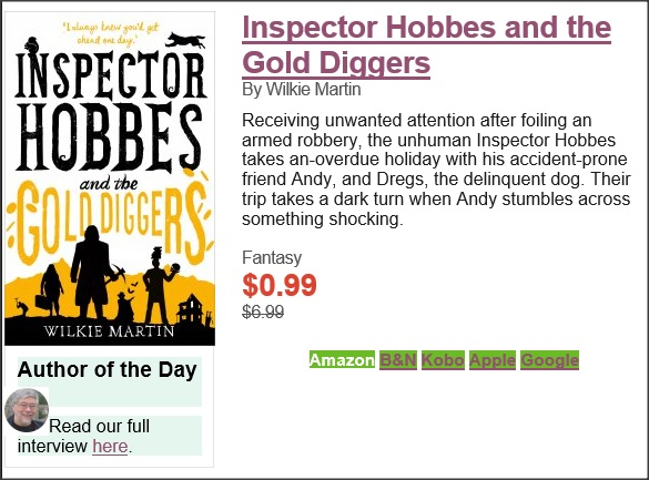 Inspector Hobbes and the Gold Diggers interview with author Wilkie Martin