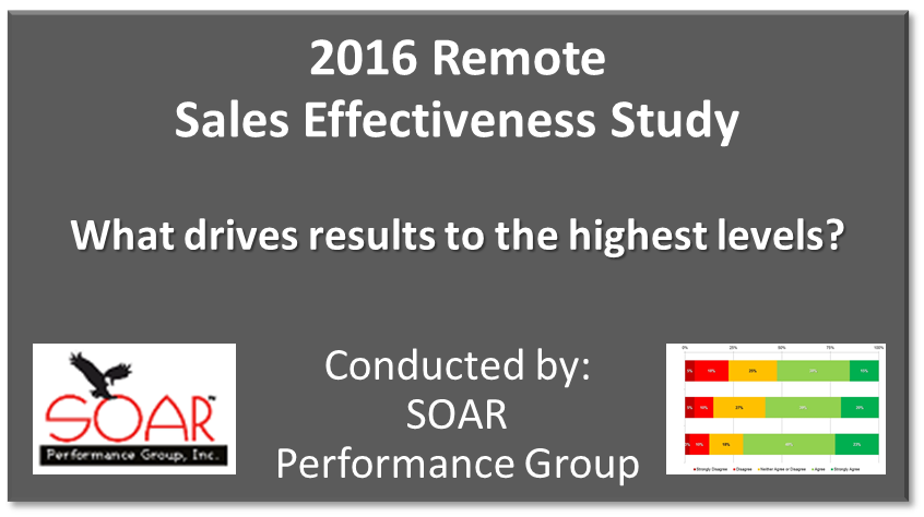 2016 Remote Sales Effectiveness Research Study