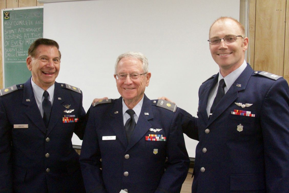 (L-R)Maj. Alexander Smith, Maj. Jerry Civalleri, Commander Capt. David Powell