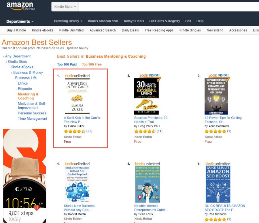 Number 1 Bestseller (Screenshot)