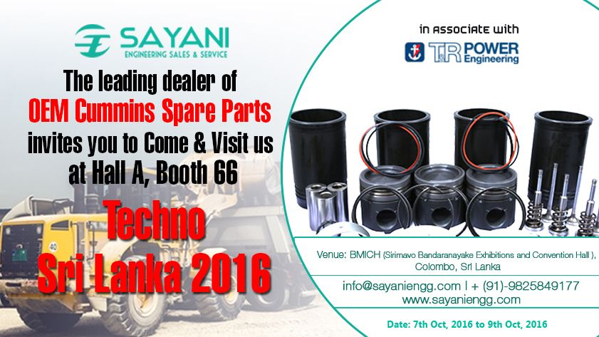Meet us at Techno Sri Lanka 2016