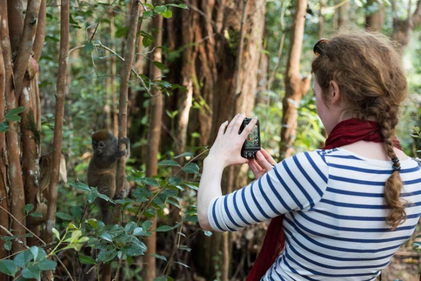 2.Getting-close-to-a-bamboo-lemur-at-Lemur-Island2