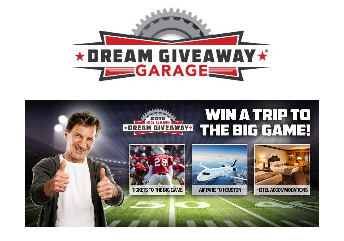Enter now to win two tickets to the 2017 super bowl and for Enter now to win
