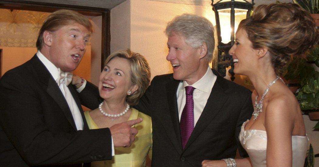Donald Trump, Bill Clinton and Their Wives