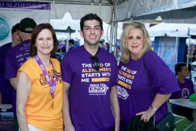 Brian Pearl, Vini Antonacci, and Pat Roseboom at The Walk To End Alzheimer's