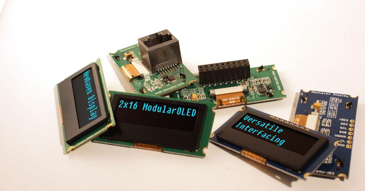 NHD's 2x16 Modular OLEDs