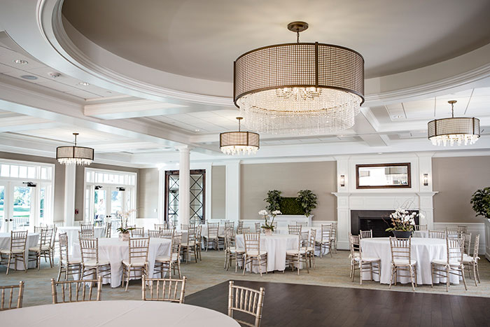 Ilex architectural lighting at shorehaven countryclub ballroom
