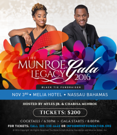 Myles and Ruth Munroe Foundation Munroe Legacy Gala Hosts: Charisa and Myles Jr.