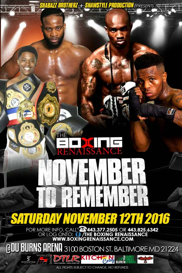Baltimore Boxing Renaissance November To Remember