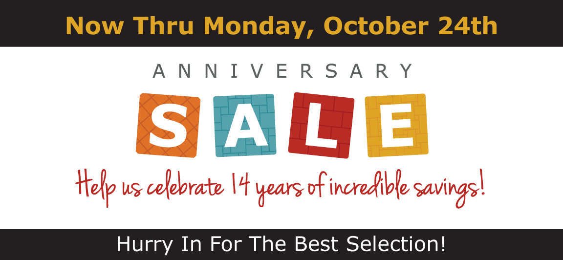Tile Outlets of America Anniversary Sale Event 10/14-24/16