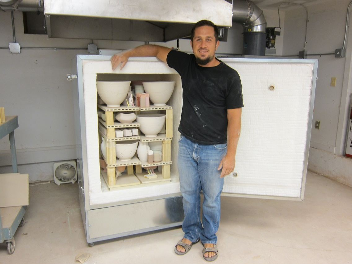 John Reinking with The Center for Contemporary Art's New Gas Kiln