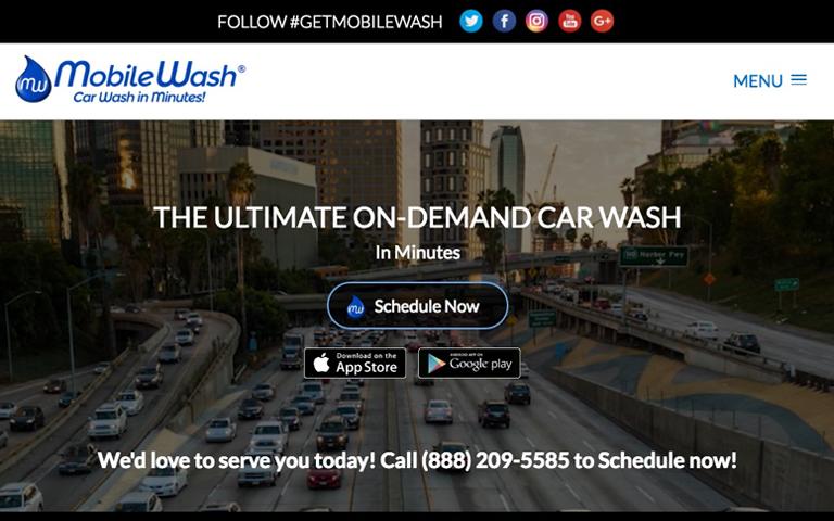 MobileWash Online Scheduling Service