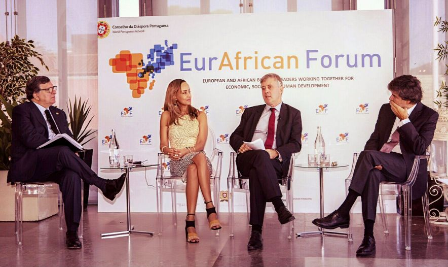 Sophia Bekele on Africa's IT and innovation Panel at the EurAfrican Forum