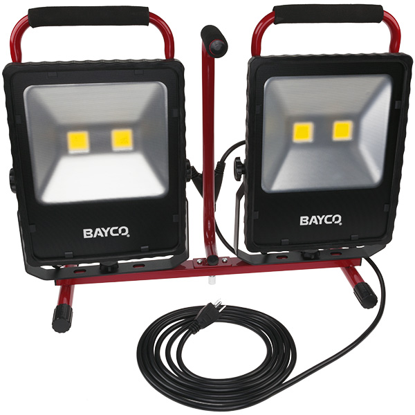 new bayco 10 000 lumen led work light stands tall at 8 feet bayco products inc prlog. Black Bedroom Furniture Sets. Home Design Ideas