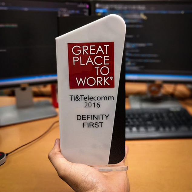 Definity First wins a total of 4 Great Place to Work® Awards