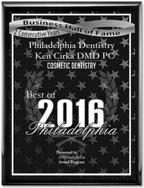 2016 Best of Philadelphia - Award - Ken Cirka - Dentist