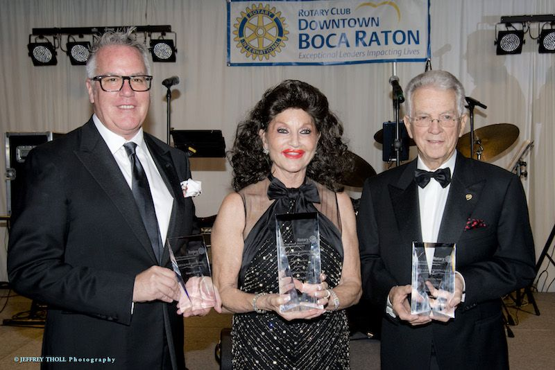 John Tolbert, Christine Lynn, Gary Peters with George Long Awards