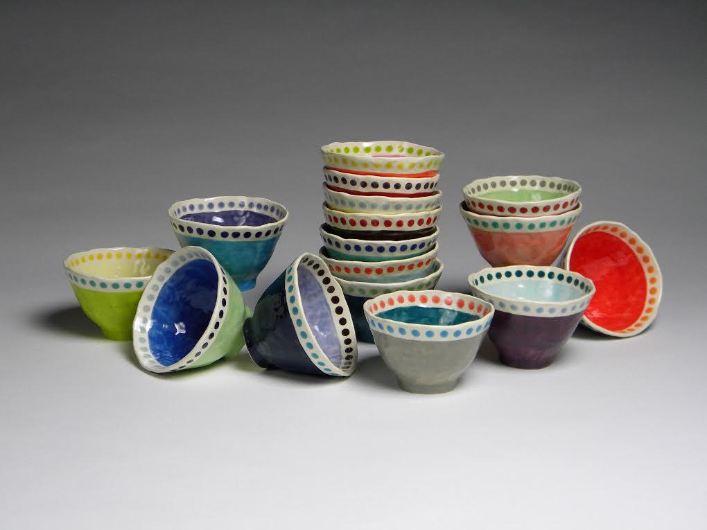 Valeries Gallery_Erin Moran_Dots_Ice Cream Bowls