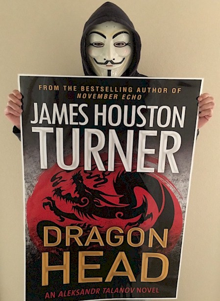 Leaked Cover of James Houston Turner's upcoming thriller, Dragon Head
