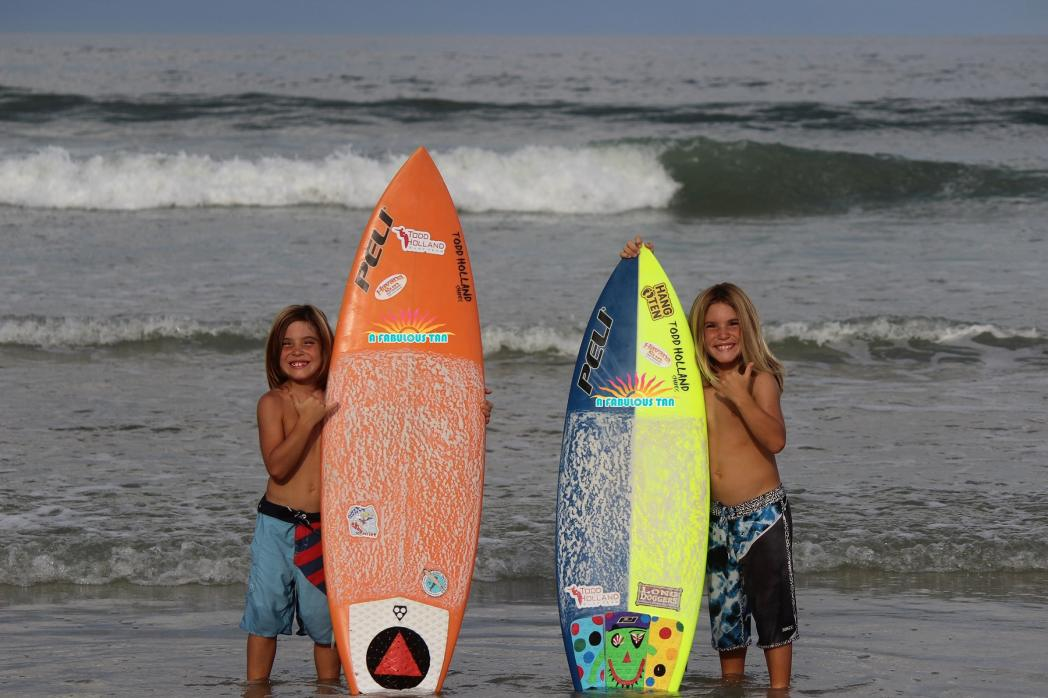 The Dixon brothers with their Boards