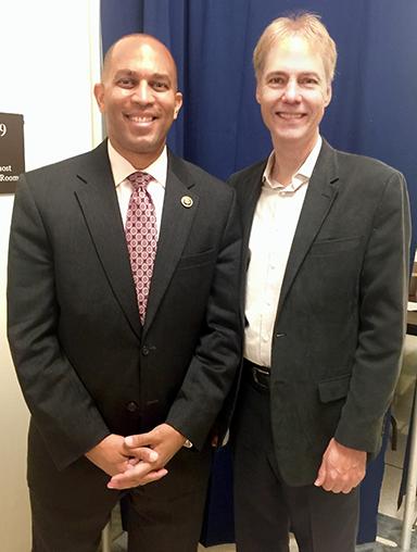Representative Hakeem Jeffries (D-NY) with SGA President Rick Carnes