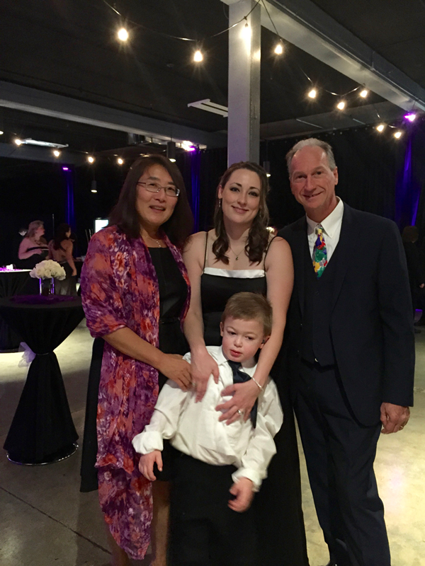 Drs. Fu and McCarty with Lindsay Austin and her son Ryan (with Hunter Syndrome)