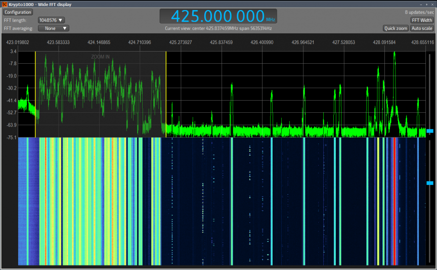Krypto1000 showing clarity of the signals displayed