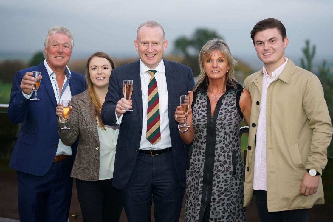 L to R: Tony and Zoe Faulkner, MP Graham Evans, Liz & Mitchel Faulkner