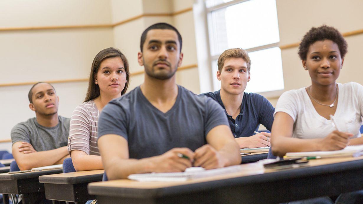 Oakland University classroom photo