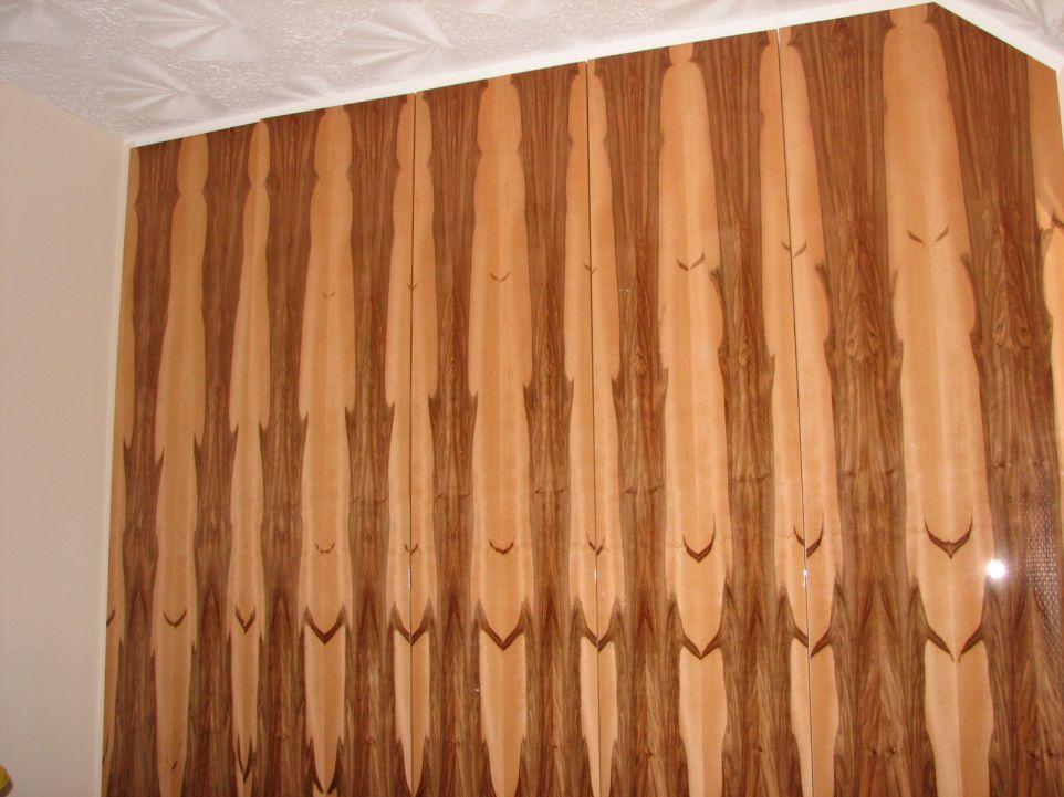 Boom matched natural wood veneer wardrobe doors