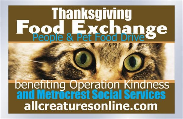 All Creatures Veterinary Center's food drive