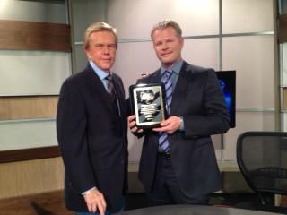 Doug Llewelyn & Stephen K. Galgoczy on the set