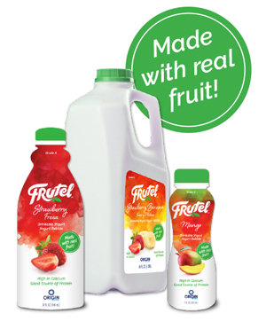 Frutel Products Available in 3 Sizes: 7, 32 and 64 oz