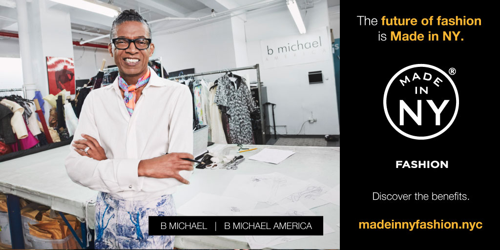 """I work, design, and manufacture everything in New York City"" - B Michael"